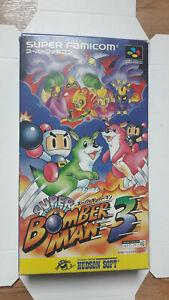 Super Bomberman 3 Nintendo SUPER FAMICOM jap complet original + crystal box