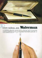 J - Publicité Advertising 1963 Le Stylo Plume C/F Waterman