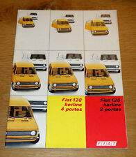 Catalogue FIAT 128 de 1973