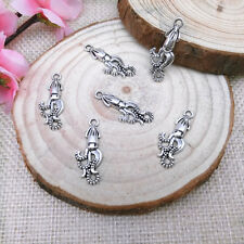 Wholesale12pcs Tibet Silver Lovely Small Squid Charm Pendant Beaded Jewelry A119