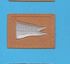 c1910s tobacco leather  COLUMBIA  UNIVERSITY #3