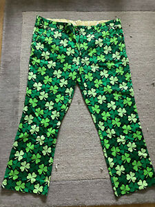 Loudmouth Golf Trousers - 40/29in - SHAMROCKS