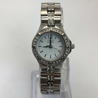 Invicta Womens 0126 Silver Stainless Steel Crystal Accent Analog Bracelet Watch