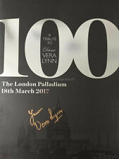 Vera Lynn Hand Signed 100 Programme, Autograph, White Cliffs of Dover, Palladium