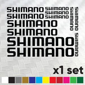 Shimano Bike Stickers Vinyl Decal Frame Cycle Bicycle - Set of 12 Logos