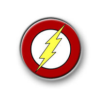 "THE FLASH / 1"" / 25mm pin button / badge / DC Comics / film / movie / TV / Arrow"