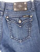 Miss Me Womens sz 30 x 32 Skinny Jeans Dark Rinse Bling Flap Pocket JS5014S20