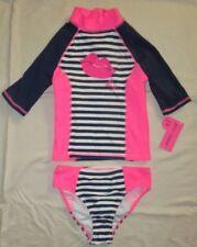NWT Betsey Johnson Swimsuit Rash Guard Shirt Set UPF 50+ Sz Medium 10 MSRP $40