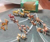 Vtg..Assorted Miniature Deer (21).. Families. Holidays. Crafts.Cute miniatures!