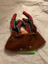 NEW CHRISTMAS Cat  Antler Hat SIZE One Size HOLIDAY TIME