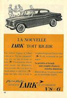 1960 STUDEBAKER LARK AUTOMOBILE ORIGINAL AD IN FRENCH