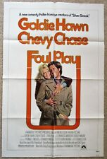 FOUL PLAY ORIGINAL 1978 1SHT MOVIE POSTER FOLDED CHEVY CHASE GOLDIE HAWN EX