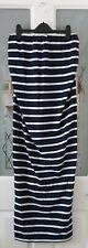 NEW LOOK Maternity Navy Nautical Stripe Jersey Maxi Bandeau Dress Size 12 BNWOT
