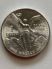 1985  MEXICAN LIBERTAD  1 ONZA  SILVER COIN  .999  1 OUNCE  FINE SILVER BULLION