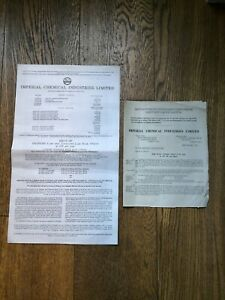Imperial Chemical Industries Ltd share offer 1960s corporate documents, photos