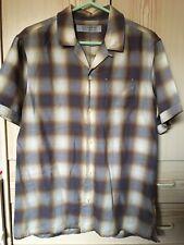 Mens All Saints Check s/s shirt size Medium 40 chest