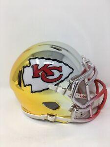 Chiefs custom three tone CHROME  riddell speed mini helmet