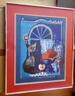 Rosina Wachtmeister Katze  Framed and Matted Print Kitty in the Window    TR0497