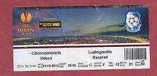 Orig.Ticket   Europa League 13/14  CHORNOMORETS ODESSA - LUDOGORETS RAZGRAD  !!