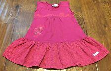 Naartjie Girl 12 18M Cap Sleeve Pink Floral Dress Ruffles Pink Bird Butterfly