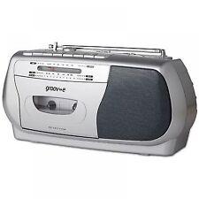 Groov-e Retro Radio Cassette Player & Recorder - Silver