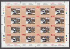 FEDERAL WILDLIFE 1992 MNH SHEET OF 16 FWH8b EIDER DUCK BY BRENDA CARTER