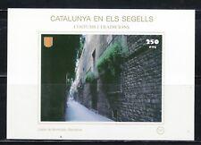 CATALUÑA EN SELLOS HB Nº 131 COSTUMBRES/TRADICIONES/ CALLE MONTCADA BARCELONA