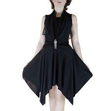 Robe de soirée SEXY NOIRE Drapé STRASS  Taille 36 38