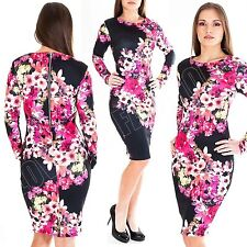 Long Sleeve Casual Floral Maxi Dresses for Women