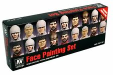 VALLEJO 70.119 Peintures pour visages de figurines – Face painting set 8x17ml