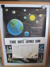 Vintage Nos Large Space Astronautics Educ Wall School Yr Calendar 1963 Not Repro