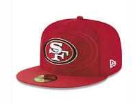 New Era 59Fifty Mens NFL Cap San Francisco 49ers On Field Sideline Hat Red 5950