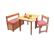 Wooden Furniture Table and Chairs Bench Kids' Dolls Wood