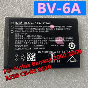 1500mAh BV-6A High For Nokia Banana 2060 3060 5250 C5-03 8110 4G Mobile Phone
