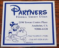 "NICE DISNEY CAST MEMBER ""PARTNERS FEDERAL CREDIT UNION"" MAGNET"