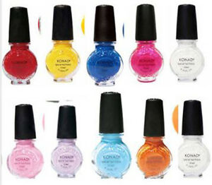10x KONAD SPECIAL POLISH FOR NAIL ART DESIGN Assorted Colors