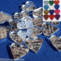 Personalised Wedding Love Heart Mr & Mrs Table Confetti Decorations Mini Favours