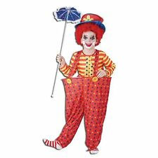 Hooped Clown Fancy Dress Costume for Boy or Girl - Medium Age 7 - 9 Years - New