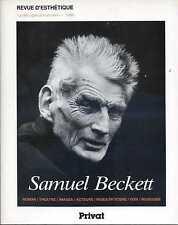 SAMUEL BECKETT, Revue d'Esthétique-Numéro Spécial, 1986. Rare
