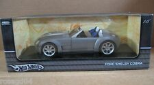 Hot Wheels Ford Shelby Cobra Gray/Silver Car Die Cast 1:18 Scale NEW Stock G7220