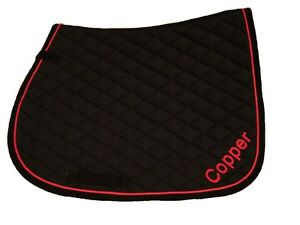 Personalised Embroidered Saddle Cloths with Names on both side