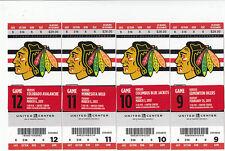 1 CHICAGO BLACKHAWKS VS COLUMBUS BLUE JACKETS TICKET STUB 3/1/13 4-3 WIN