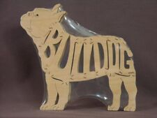 French Bulldog Wooden Amish made Scroll Saw Toy Puzzle