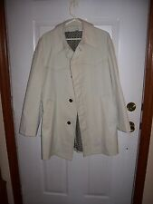 Vintage Men's London Fog Coat 40 R - Ivory color-Button Front-new with out tags