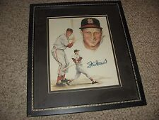 STAN MUSIAL AUTOGRAPHED LITHO COA  SCOREBOARD PLUS FREE ITEMS SEE DETAILS