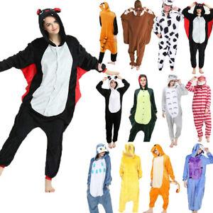 Unisex Adult Animal Kigurumi Fancy Dress Onsie8 Onesie19 Anime Cosplay Pyjama UK
