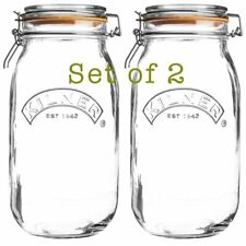 2 x Kilner Clip Top Storage Jar - Round 2L  [8419]