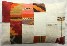 (40*60cm, 16*24cm) Textured handmade pillow cover Patchwork kilim and cotton #3