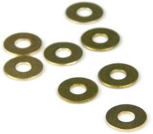 Brass Flat Washer 1/4 Small, Qty 50