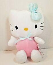 "2005 Hello Kitty 10"" Stuffed Plush Pink with Blue"